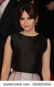 LONDON - FEB 8, 2015: Felicity Jones attends the EE British Academy Film Awards at The Royal Opera House  in London