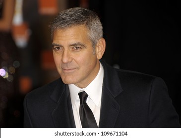 LONDON - FEBRUARY 12: George Clooney attends the Orange British Academy Film Awards at the Royal opera house on February 12, 2012 in London.