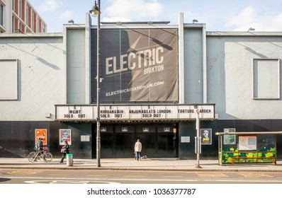 LONDON- FEBRUARY, 2018: Electric Brixton, a famous nightclub and music venue on Brixton Road, south west London hosting regular international DJ's and other contemporary music performances.
