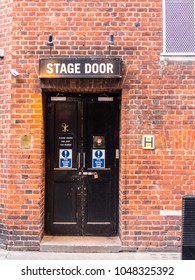 London February 2018.  A view of the stage door of the Cambridge theatre on Shelton Street, in Covent Garden , London.