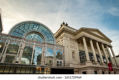 LONDON- FEBRUARY, 2020: Royal Opera House- a famous ballet and opera venue in the Covent Garden area of London's West End