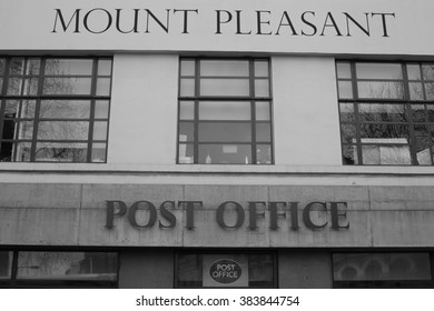London - February 28, 2016: The Mount Pleasent Sorting Office is where Londons post is sorted. It is due to be redeveloped into flats.