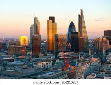 London Financial District City Skyline