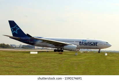 London Gatwick Sussex 7th May 2016 UK Air Transat A330 awaiting take off clearance