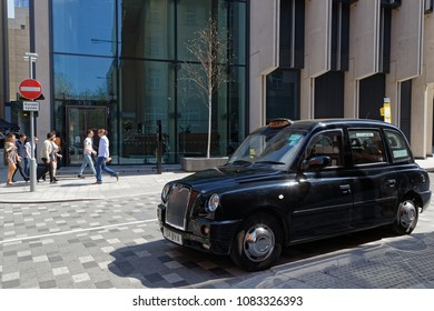 LONDON, GREAT BRITAIN, April 20, 2018 : Hackney carriage or Black Cab. Hackney carriage today refers to a taxicab licensed by the Public Carriage Office, local authority