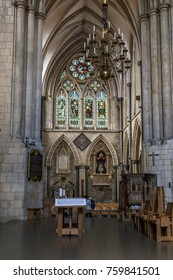 LONDON, GREAT BRITAIN - MAY 13, 2014: This is interior one of the chapels of the Southwark Cathedral, which was built in the Middle Ages.