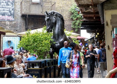 LONDON, GREAT BRITAIN - MAY 17, 2014: This is the Camden Lock Market, which is located on the site of the previously existing stables.