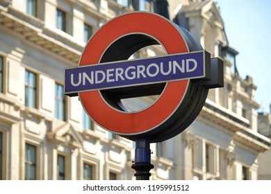 London, GREAT BRITAIN on September 26, 2018 : Underground sign.