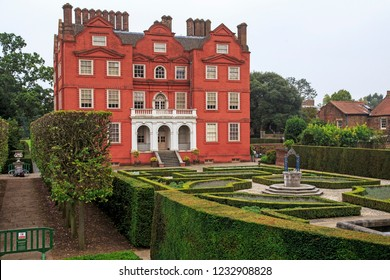 LONDON, GREAT BRITAIN - SEPTEMBER 17, 2014: This is the royal garden of the Palace of Kew in the Botanical Garden of Kew, which served as the residence of Queen Charlotte in the 18th century.