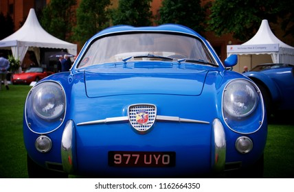London, Greater London/ UK - 07 06 2018: Front shot of a Fiat Abarth 750 GT