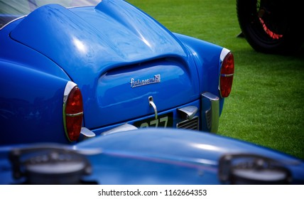 London, Greater London/ UK - 07 06 2018: Detail shot of the back of a Fiat Abarth 750 GT