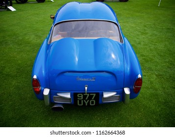 London, Greater London/ UK - 07 06 2018: Rear shot of a Fiat Abarth 750 GT showing the double bubble design