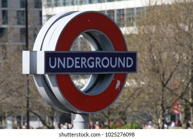 London, Greater London, United-Kingdom - May 2nd 2017: Underground Sign