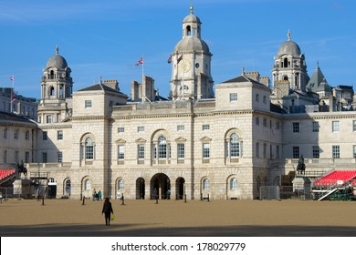 London Horse Guards, the parade takes place in the ground in front of the building