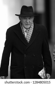 LONDON - JAN 13, 2019: ( Image digitally altered to monochrome ) Sir Vince Cable Party leader of Liberal Democrats seen at the BBC studios