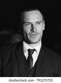 LONDON - JAN 19, 2012: Michael Fassbender ( Image digitally altered to monochrome ) arrives for the London Film Critics Circle Awards held at the BFI