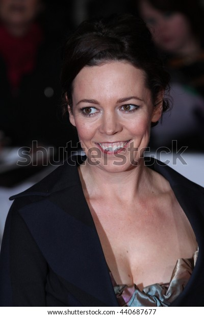 LONDON - JAN 19, 2012: Olivia Colman arrives for the London Film Critics Circle Awards held at the BFI on Jan 19, 2012 in London