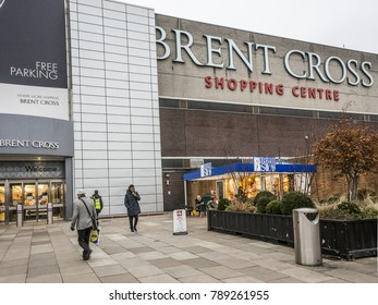 LONDON- JANUARY, 2018: Exterior of the Brent Cross Shopping Centre in Hendon, North London