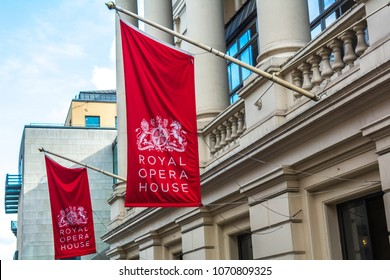 LONDON- JANUARY, 2018: Royal Opera House exterior- a famous ballet and opera venue in the Covent Garden area of London's West End