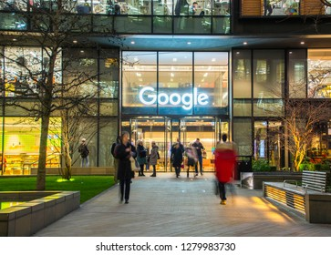 LONDON- JANUARY, 2019: Exterior of Google's London headquarters in Kings Cross