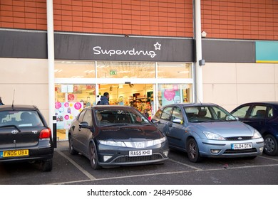 LONDON - JANUARY 23rd: The exterior of superdrug on January the 23rd, 2015, in London, England, UK. Superdrug is one of the Uk's leading pharmaceutical companies.