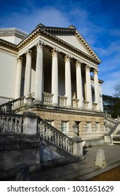 LONDON JANUARY 25: Chiswick House, an example of English Palladian architecture on 25th January 2016 in London, UK.