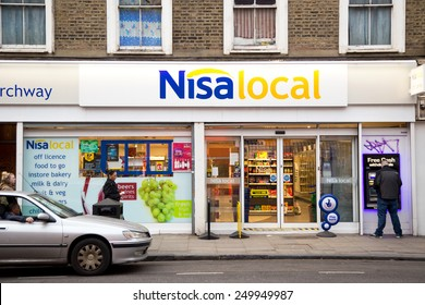 LONDON - JANUARY 27TH: The exterior of Nisa local on January the 27th, 2015, in London, England, UK. Nisa is a ���£1.43 billion turnover company