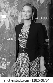 LONDON - JUL 06, 2016: ( Image digitally altered to monochrome ) Kate Moss attends the Serpentine Summer Party co-hosted by Tommy Hilfiger at the Serpentine Gallery