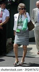 LONDON - JUL 11, 2015: Virginia Wade seen at Wimbledon Championships on Jul 11, 2015 in London