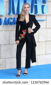 LONDON - JUL 16, 2018: Amanda Seyfried attend the Mamma Mia! Here We Go Again film premiere