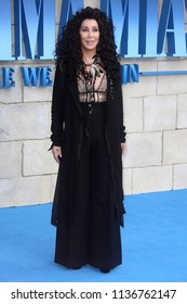 LONDON - JUL 16, 2018: Cher attends the Mamma Mia! Here We Go Again film premiere