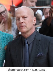 LONDON - JUL 22, 2013: Bruce Willis attends the European Premiere of Red 2 at Empire Leicester Square on Jul 22, 2013 in London