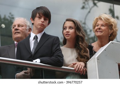LONDON - JUL 8, 2015: Dylan Michael Douglas and Carys Zeta-Douglas  attend the Ant-Man - European premiere at the Odeon Leicester Square on Jul 8, 2015 in London