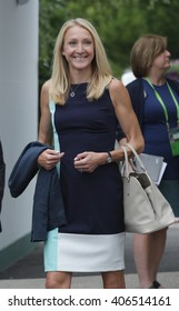 LONDON - JUL 8 2015: Paula Radcliffe arrives to the Wimbledon Championships on Jul 8, 2015 in London