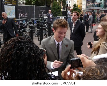 LONDON - JULY 1: Xavier Samuel at Twilight Eclipse Premiere July 1st, 2010 in Leicester Square London, England.