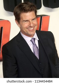 LONDON - JULY 13, 2018: Tom Cruise attends the UK Premiere of Mission: Impossible – Fallout held at the BFI IMAX