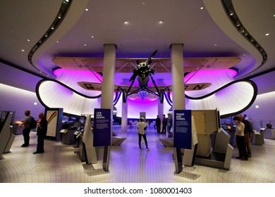 LONDON - JULY 14: Inside view of Science Museum, Winton Gallery, in South Kensington, founded in 1857, serve about 3 million visitors annually, on July 14, 2017, London, UK.