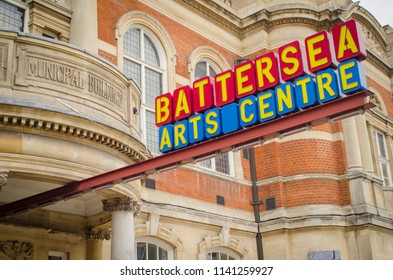 LONDON- JULY, 2018: Battersea Arts Centre exterior. A performing arts venue on Lavender Hill in Battersea, south west London