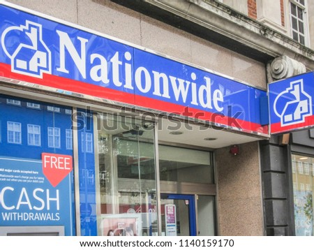 LONDON JULY 2018 Nationwide Building Society Stock Photo