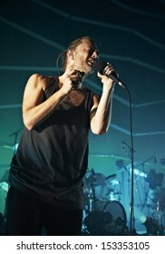LONDON, JULY 26: Atoms For Peace performs at The Roundhouse Camden on July 26, 2013 in London.