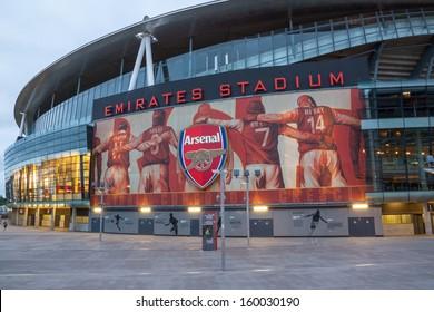 LONDON � JULY 31: Emirates Stadium on July 31, 2013. Ashburton Grove, known for sponsorship reasons as the Emirates Stadium or simply The Emirates, is the home of Arsenal.