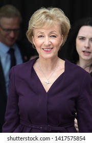 LONDON - JUN 02, 2019:  Andrea Leadsom MP seen at the BBC studios in London