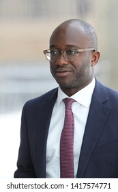 LONDON - JUN 02, 2019: Sam Gyimah seen at the BBC studios in London