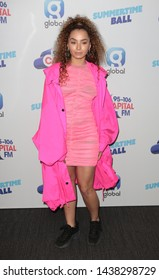 LONDON - JUN 08, 2019: Ella Eyre attends the Capital FM Summertime Ball in London