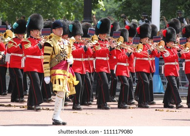 LONDON - JUN 09, 2018: General view at the Trooping The Colour 2018 on the Mall in London