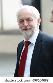 LONDON - JUN 11, 2017: Jeremy Corbyn Leader of the Labour Party attends the BBC Andrew Marr Show at the BBC Studios in London