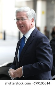LONDON - JUN 11, 2017: Sir Michael Fallon Secretary of State for Defence attends the BBC Andrew Marr Show at the BBC Studios in London