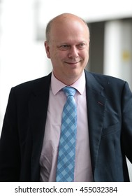 LONDON - JUN 19, 2016: Chris Grayling seen at the BBC for the Andrew Marr show on Jun 19, 2016 in London