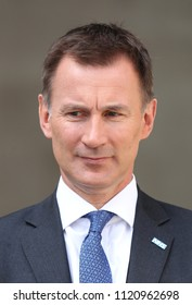 LONDON - JUN 24, 2018: Jeremy Hunt Secretary of State for Health seen arriving to the BBC studios in London