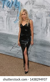 LONDON - JUN 25, 2019: Alice Dellal attends the Serpentine Gallery Summer Party, Kensington Gardens